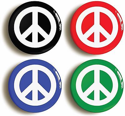 4 x cnd peace symbol badges buttons pins (size is 1inch/25mm diameter)