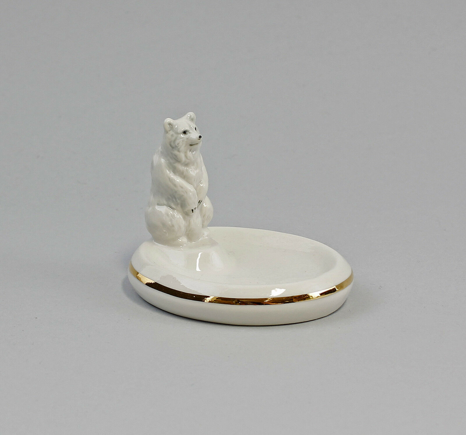 porcelain figurine Ens Thuringia Bowl Polar bear 9941811