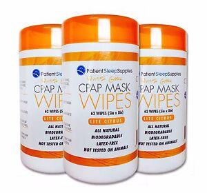 Patient Sleep Supplies CPAP Mask Wipes (Lite Citrus), 3 pack