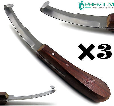 3 Hoof Knife Double Edge Blades 8 Farrier Premium Instruments