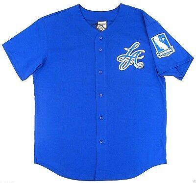 STREETWISE LA SCRIPT Baseball Jersey T-shirt Full Button Tee Men L,XL,2XL NWT 2 Button T-shirt