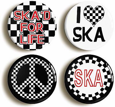 ska for life badge button pin set (size is 1inch/25mm diameter)