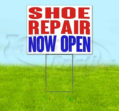Shoe Repair Now Open Yard Sign Corrugated Plastic Bandit Lawn Decoration Usa
