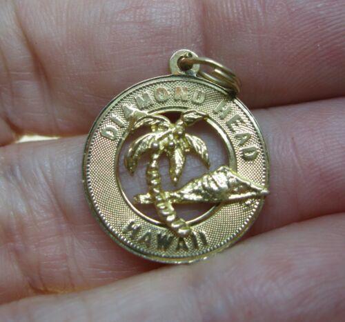 Vintage CREA Diamond Head HAWAII 12K Gold Filled Charm Souvenir Charm Volcano