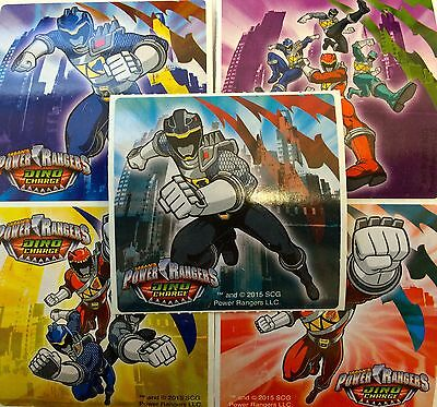 25 Power Rangers Dino Charge  Stickers Party Favors Teacher Supply - Power Ranger Party Favors