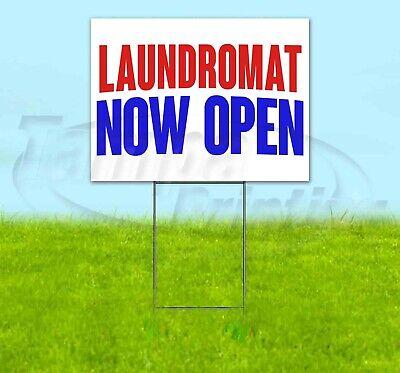 Laundromat Now Open Yard Sign Corrugated Plastic Bandit Lawn Decorations