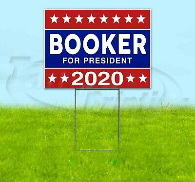 Booker For President 2020 18x24 Yard Sign Corrugated Plastic Lawn Usa Election