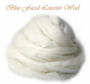 Blue-Faced-Leicester-BFL-Soft-Roving-Wool-Spinning-Undyed-Fiber-8-oz