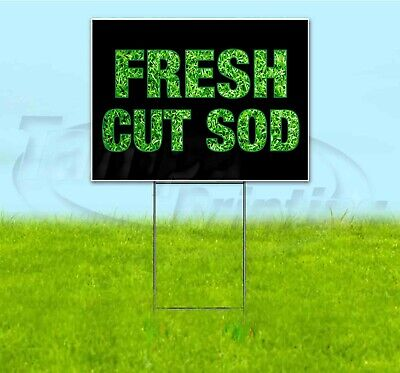 Fresh Cut Sod 18x24 Yard Sign With Stake Corrugated Bandit Business Landscaping