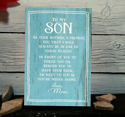Decorate My Desk (To My Son  Wood Sign Shelf Sitter Wall Decor Desk Sitter)
