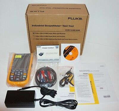 Fluke 123bna Industrial Scopemeter 20mhz Handheld Oscilloscope Brand New