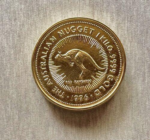 "Australia - Paperweight - 1996 The Australian Nugget 1 Kilo.9999 Gold - 3"" Brass"