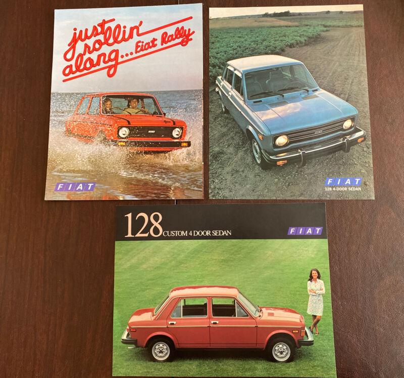 Set Of 3 Fiat 128 4-door Sedan And Fiat Rally Brochures Original Excellent