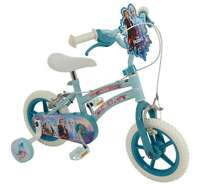 "Disney Frozen 2 Kids Girls Bike 12"" inch Wheel size Bicycle with Stabilisers✅NEW"