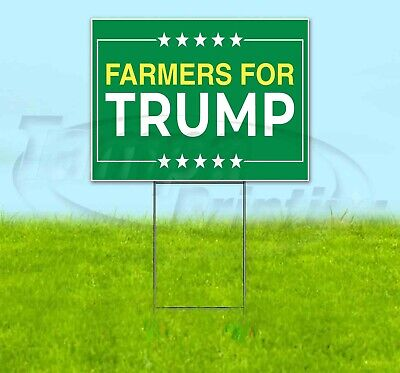 Farmers For Trump 18x24 Yard Sign Corrugated Plastic Lawn Business Usa Election