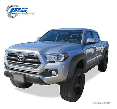 "Black Textured Rivet Fender Flares 2005-2011 Toyota Tacoma for 73.5/"" Bed Only"