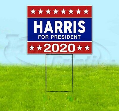 Harris For President 2020 18x24 Yard Sign Corrugated Plastic Lawn Election
