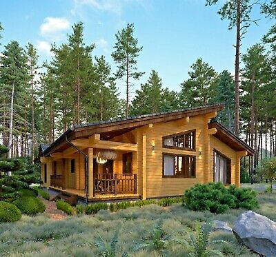 1730 Sq.ft Log House Kit Lh-161 Eco Friendly Wood Prefab Diy Building Cabin Home