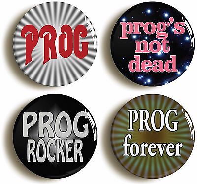 prog rock badge button pin set (size is 1inch/25mm diameter) seventies 1970s