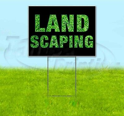 Landscaping 18x24 Yard Sign With Stake Corrugated Bandit Usa Business Garden