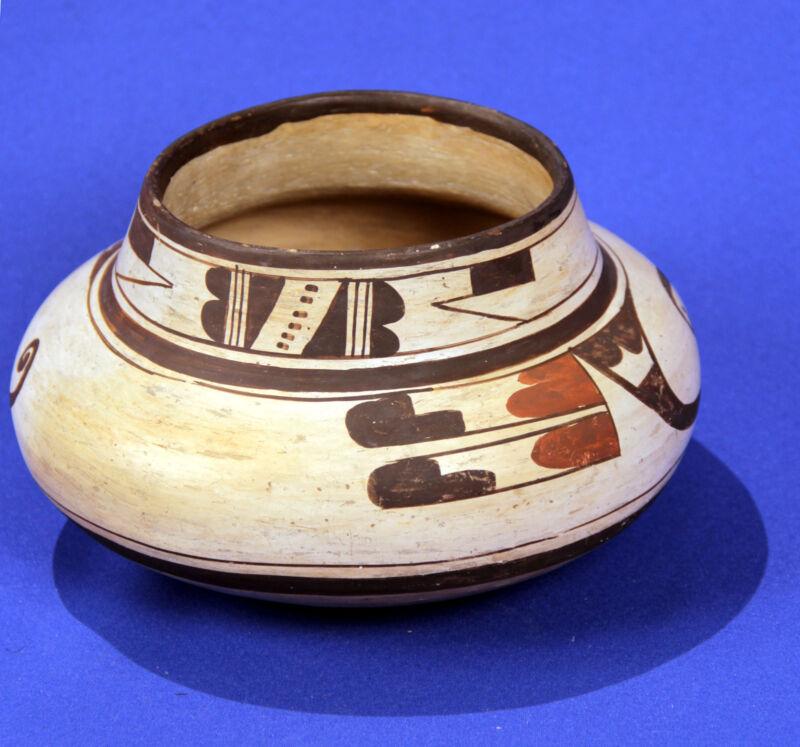"Historic Era Hopi Polychrome Pot C.1900-1920 8"" X 5"", Possible Nampeyo Of Hano"