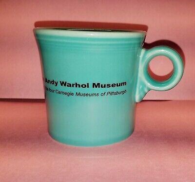 Vtg The Andy Warhol Museum Fiesta Fiestaware Teal Coffee Mug