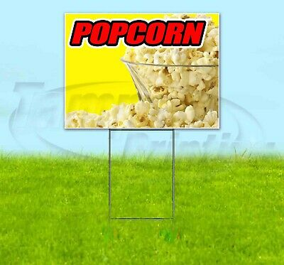 Popcorn Yard Sign Corrugated Plastic Bandit Lawn Decorations Usa