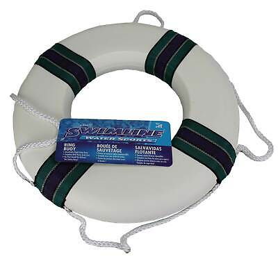 Swimline 18 Lifeguard Swimming Pool Floating Safety Ring Buoy, White Open Box  - $22.49