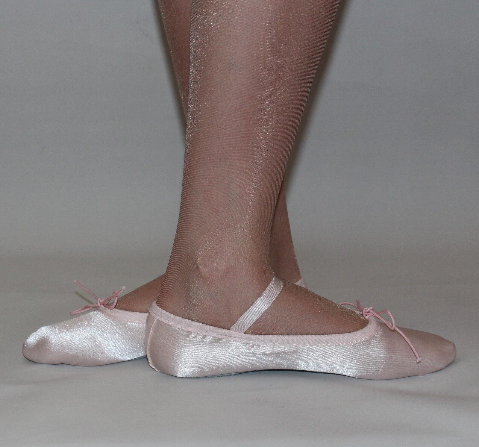 satin ballet shoes pink white ivory black royal blue