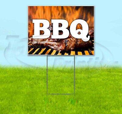 Bbq 18x24 Yard Sign Corrugated Plastic Bandit Lawn Business Usa