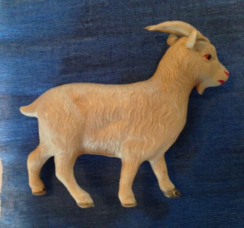 Antique  Celluloid Goat With Horns