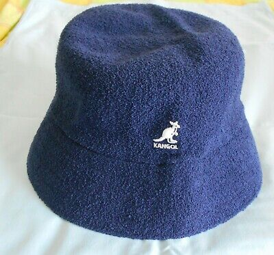 Kangol Navy Sun Hat  Bermuda Casual Embroidered White Logo L/XL
