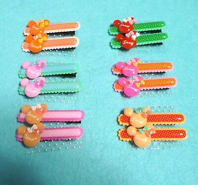 2 PC Cute Baby Girls Minnie Mouse Hair Clip Hairpin for Kids Toddler 2.5