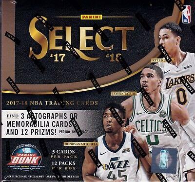 2017 18 Panini Select Basketball Sealed Hobby Box 12 Packs Of 5 Nba Cards 3 Hits