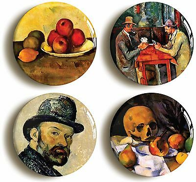 4x paul cezanne badges buttons pins (1inch/25mm diamtr) art post impressionist