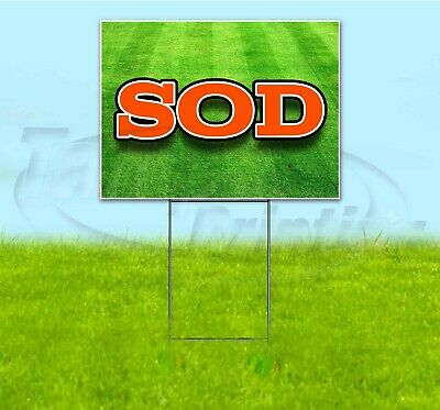 Sod 18x24 Yard Sign With Stake Corrugated Bandit Usa Business Landscaping