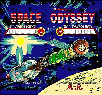 Williams Space Odyssey Pinball Machine Translite Backglass