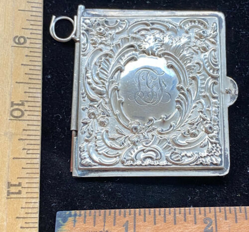 Antique American Sterling Silver Dance Card Case