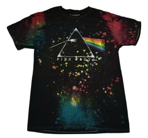 Pink Floyd Mens Splatter Tie Dye Shirt New M, 2XL
