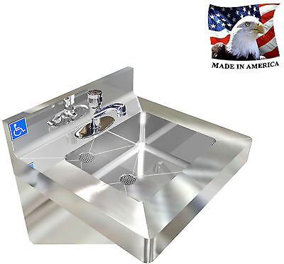 Ada Wash Up Hand Sink Stainless Steel Vandal Resistant