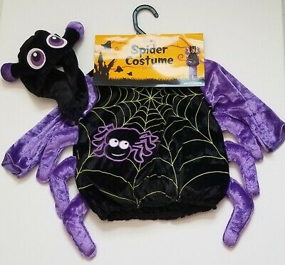 Baby Girl Spider Halloween Costume (NEW Infant Spider Costume's with hood 6-12 Months Halloween)