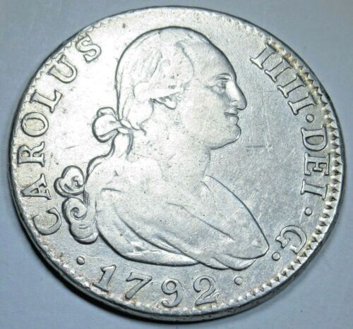 1792 MF 4R Spanish Silver 4 Reales Antique 1700