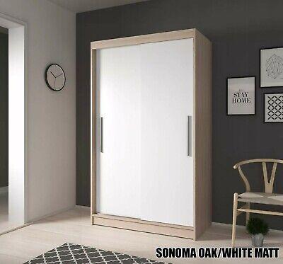 Modern NewSliding Door Wardrobe 120cmFast DeliveryUk Stock