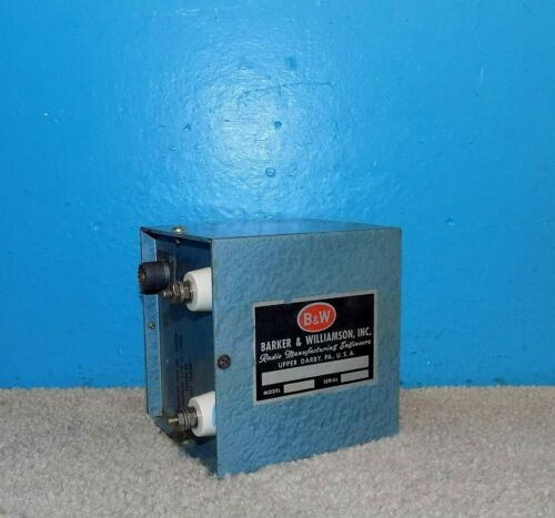 RARE B & W Barker Williamson Model 700 Balun 10m 75Ω Unbal to 100Ω Bal Free Ship