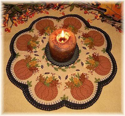 PATTERN~*Fall's Bounty*~ Autumn Penny Rug/Candle Mat *PATTERN* (Autumn Pattern)