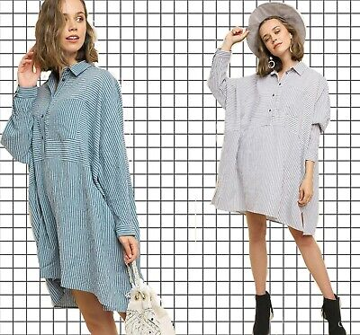 PLUS XL 1XL 2XL UMGEE TEAL RUBY GREY Stripe Button Shirt/Blouse/TUNIC DRESS (Gray Tunic Dress)