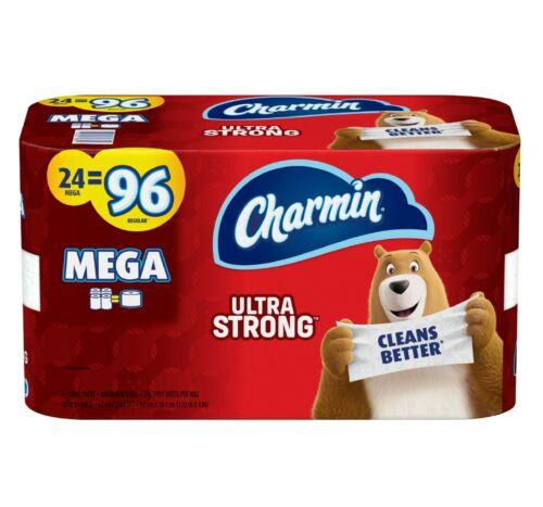 Charmin Ultra Strong Toilet Paper, 24 Mega Roll = 96 Regular Rolls