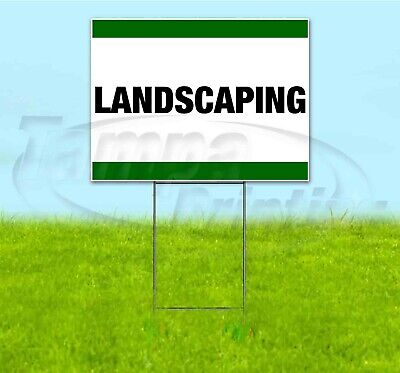 Landscaping 18x24 Yard Sign With Stake Corrugated Bandit Usa Business Sale