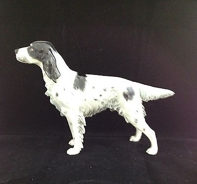 PORCELAIN GEOBEL ENGLISH SETTER HUNTING DOG SERIES