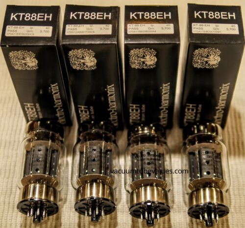 QUAD Electro Harmonix Factory Matched KT88 KT88EH Vacuum Tubes  24hr Burn-in